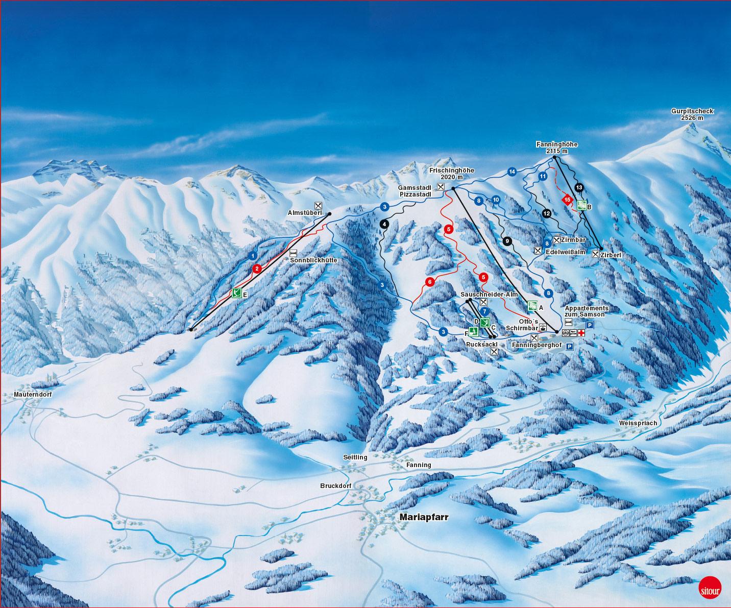 Ski Map Lungau Amp Katschberg Austria