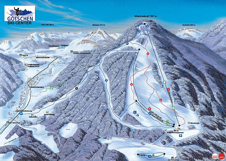 Ski Map Berchtesgadener Land Germany