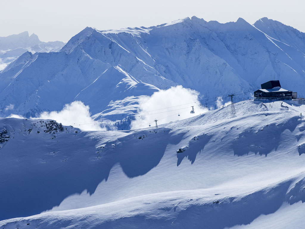 (4k) LAAX Ski Resort , Flims Laax Falera, Switzerland ...