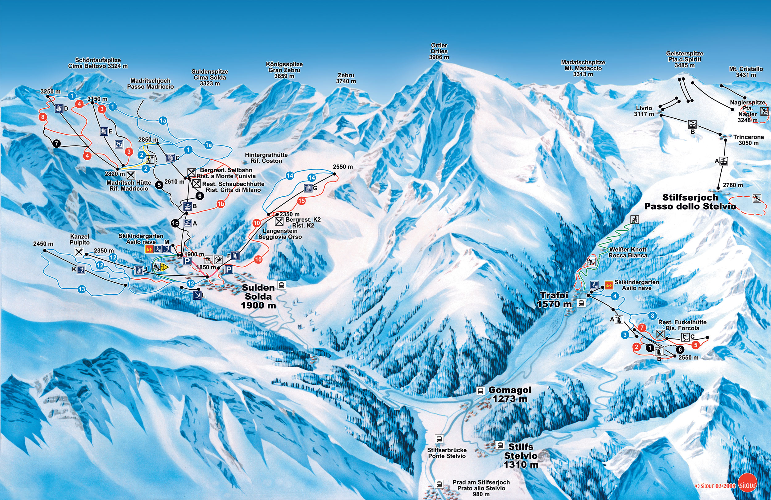 skiing sulden am ortler | ski holidays in italy