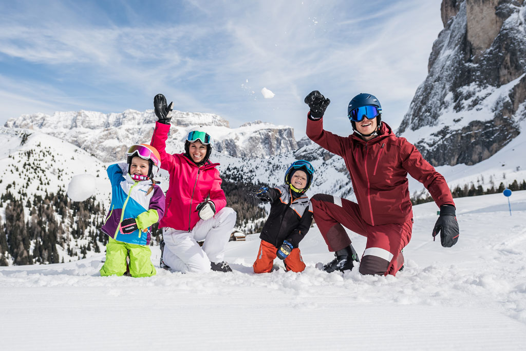 Families in de Dolomiti Superski
