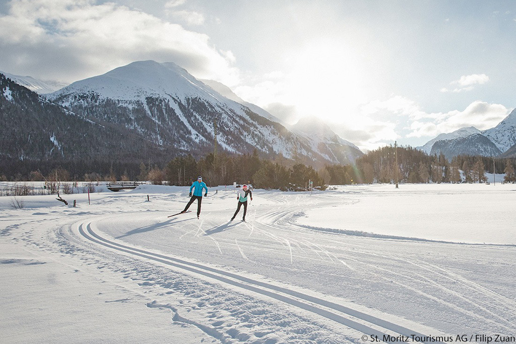 Cross-country skiing Engadin