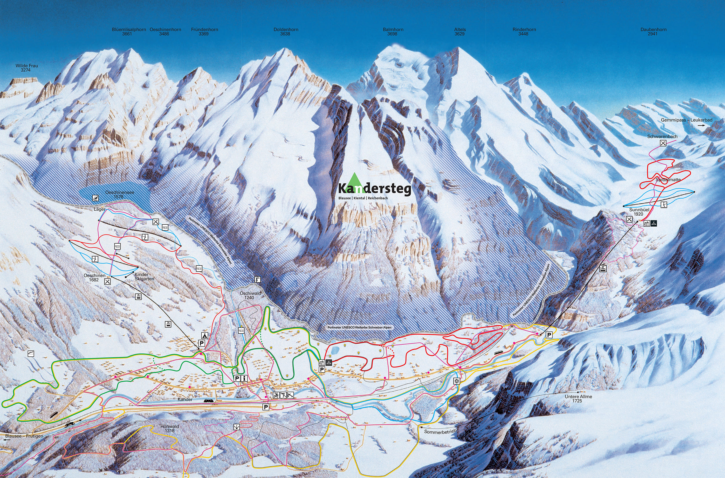 Piste Map Of Kandersteg