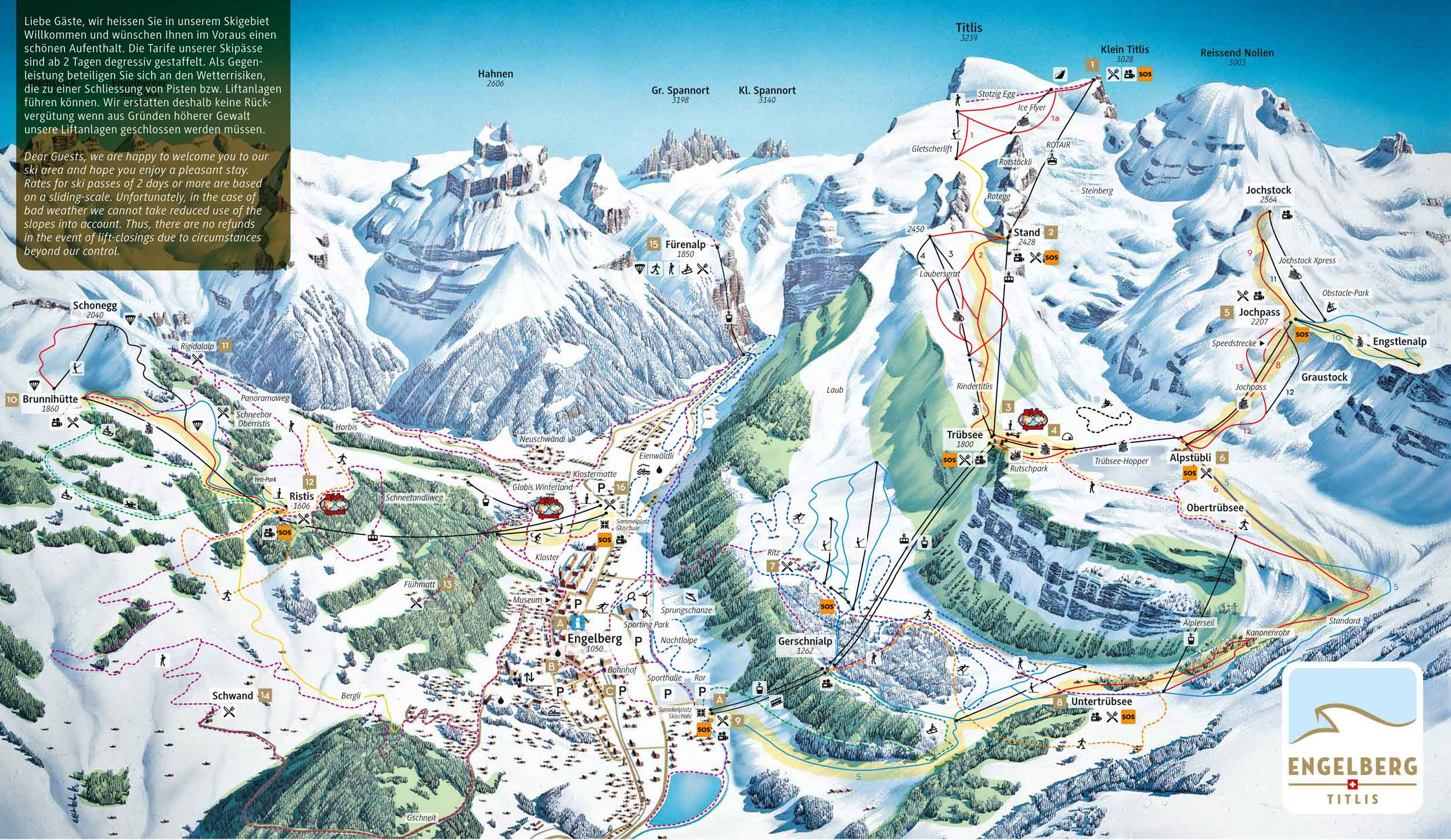 Ski map Engelberg Switzerland