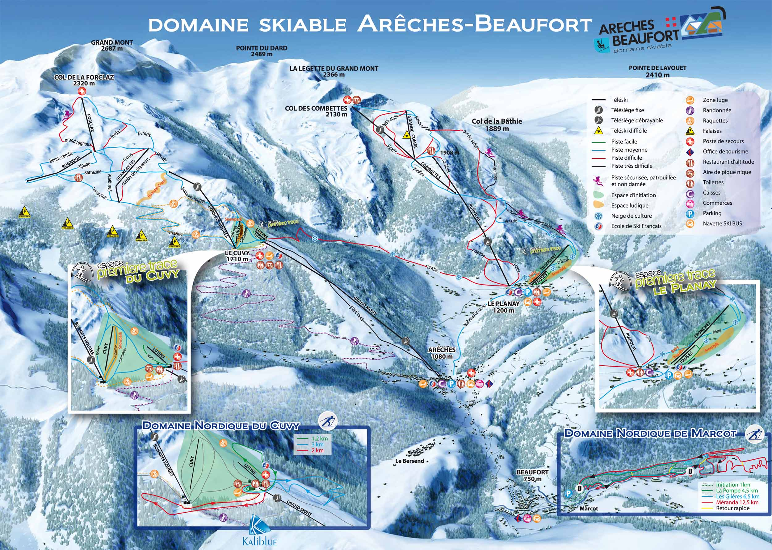 Ski Map Ar 234 Ches Beaufort France