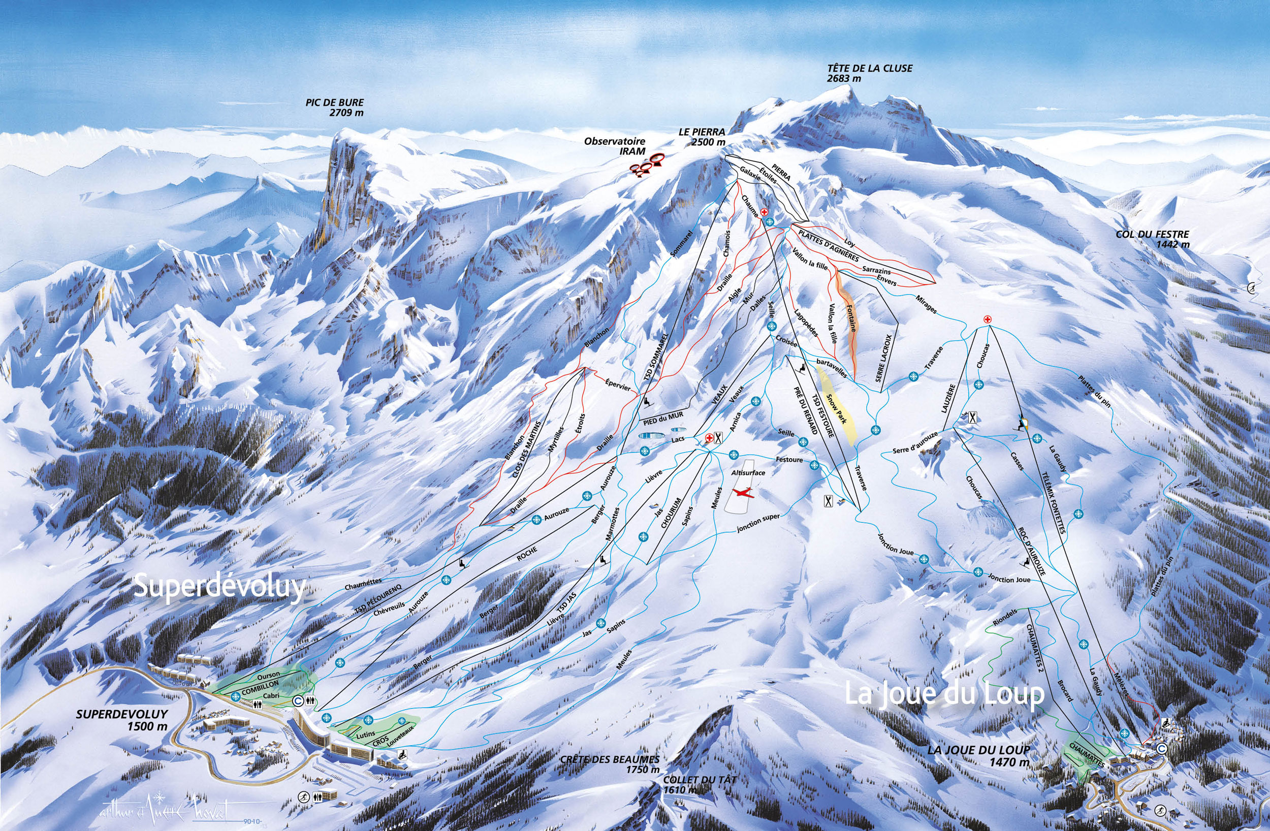 Superdvoluy piste map