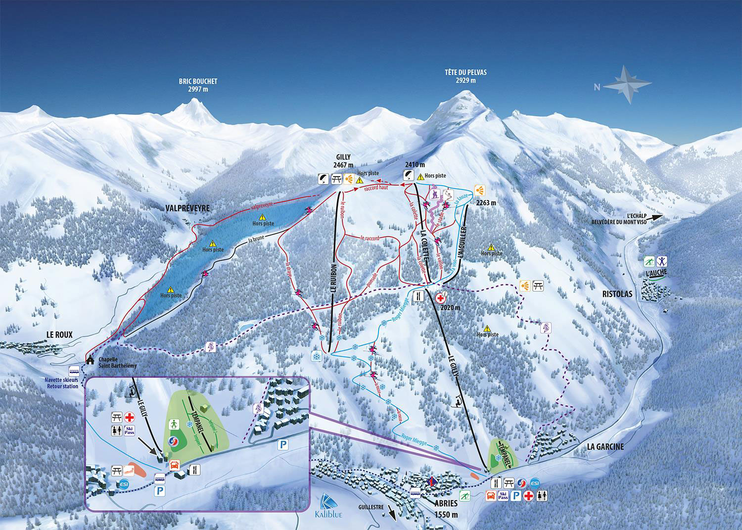 ski map queyras france. Black Bedroom Furniture Sets. Home Design Ideas