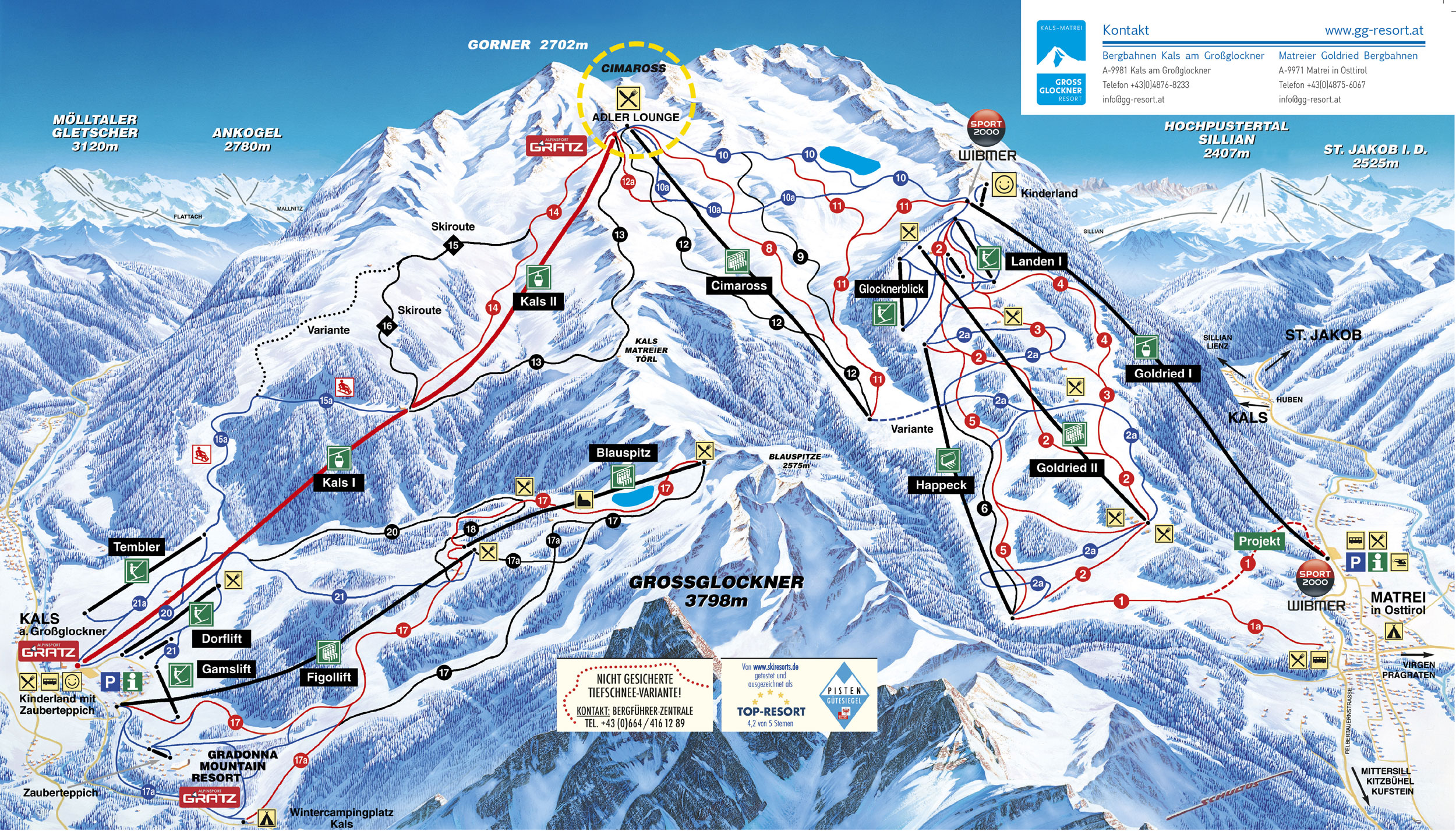 Matrei in Osttirol piste map