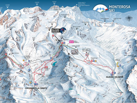 Piste map 3 valleys