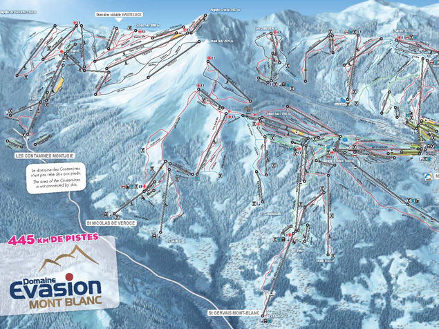 Ski map evasion mont blanc france for Piste de ski interieur