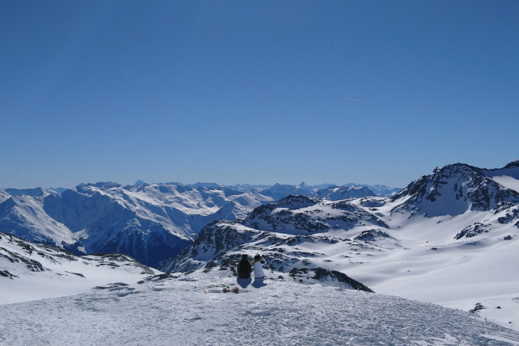 Vue panoramique à Val Thorens